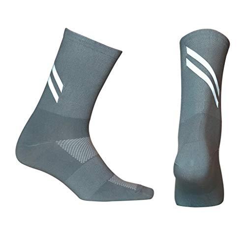 Calcetines unisex reflectantes para ciclismo, para correr, caminar, calcetines de compresión, ajuste ergonómico