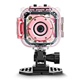 [Upgraded] DROGRACE Kids Camera Waterproof Action Video Digital Camera 1080P HD for Girls