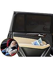 LIWIN Auto Zonwering [2 stuks], Autozonwering Kinderen Autozonneklep Zonwering Auto Baby met Uv-bescherming Zijruit Mesh Materiaal zonwering voor Kinderen, Baby's & Huisdieren op de Achterbank