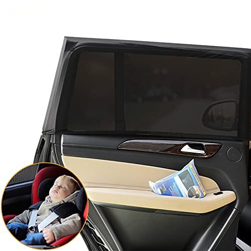LIWIN Sonnenschutz Auto [2-Stück], Auto Sonnenschutz Kinder Auto Sonnenblende Sonnenschutz Auto Baby mit UV-Schutz Seitenfenster Meshmaterial Sonnenschutz für Kinder, Babys & Haustiere im Rücksitz