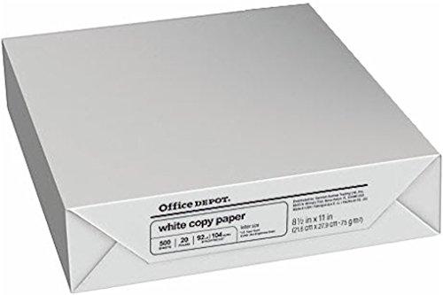 Office Depot copia Fax láser Inkjet papel para impresora, 21,59 cm x 27,94 cm tamaño carta, 9,07...