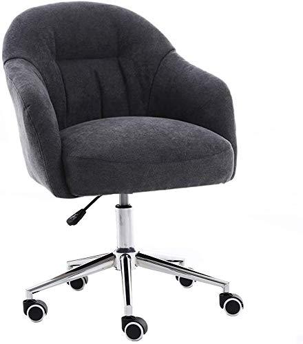 LQ Polsterliege, Möbel, Wohnbürostuhl, Lounge Wohnzimmer, mit Rollen Schreibtisch Stühle, höhenverstellbar Bürostuhl (Color : Black)