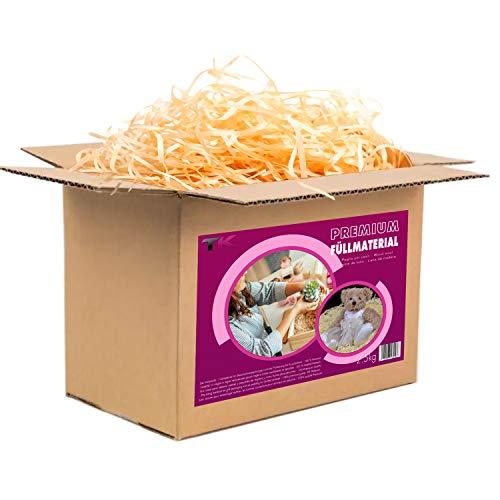 Paglietta per cesti - Paglia per ceste natalizie regalo vuote - Truciolo in legno per cestini vuoti e per imballaggio - Pagliuzza per confezioni e decorazioni (2,5 kg)