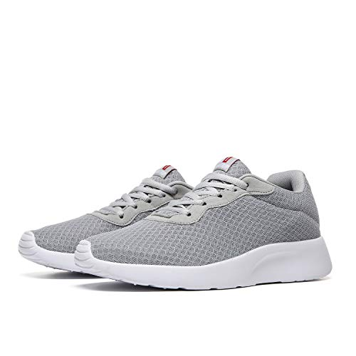 MAIITRIP Walking Shoes for Men Comfortable LightweightCasual Easy Walk Minimalist Gym Sport Fitness Athletic Running Sneakers Light Grey Gray Size 9