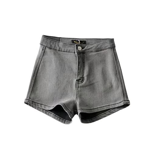 Pantalones Cortos de Mujer Sexy Retro Denim Levantamiento de glúteos Prensado Estiramiento Tendencia Suave...