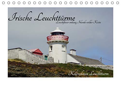 Irische Leuchttürme - Leuchtfeuer entlang Irlands wilder Küste (Tischkalender 2021 DIN A5 quer)