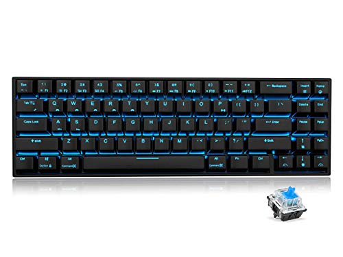 RK71 Mechanical Keyboard 71 Keys 70% LED Backlit Compact Gaming Keyboard,Tenkeyless Wired/Wireless Bluetooth...