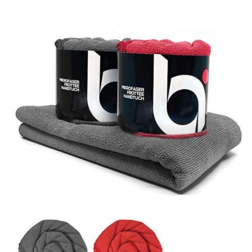 baenger Mikrofaser Handtuch mit Frottee Struktur I Antibakterielle Microfaser Handtücher schnelltrocknend I Saugfähiges Badetuch, Reisehandtuch, Sport