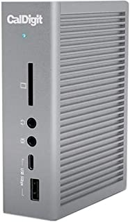 CalDigit TS3 Plus Thunderbolt 3 Dock - 85W Charging, 7X USB 3.1 Ports, USB-C Gen 2, DisplayPort, UHS-II SD Card Slot, LAN, Optical Out, for 2016+ MacBook Pro & PC (Space Gray - 0.7m/2.3ft Cable)