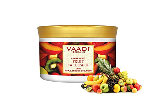Refreshing Fruit Face Pack - Herbal Face Pack - ALL Natural - Paraben Sulfate Free - Suitable for All Skin Types - Value Pack of 600gms (21.16 Oz) - Vaadi Herbals