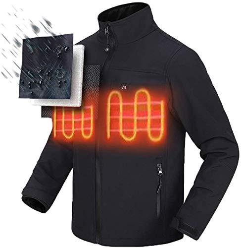WERFFT Climatizada eléctrica Camisa de calefacción térmica Ropa Caliente a Caballo Ropa de la Ropa de Seguridad con batería y Cargador de EE.UU,XXXL