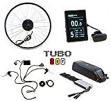 Tubo Kit, Sistema Completo per Conversione in Bici elettrica, Ruota Anteriore 700c, Motore 250W,...