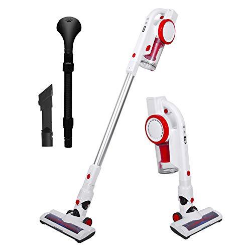 AUCMA Cordless Stick Vacuum Cleaner, 17Kpa Powerful Lightweight Stick Vacuum Cleaner 4 in 1 Handheld Rechargeable for House, Car and Pet with Brushless Motor, LED Brush, Pet Brush & Wall-Mount