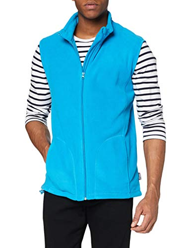 Stedman Apparel Active Fleece Vest/ST5010 Sweat-Shirt, Bleu hawaïen, S Homme