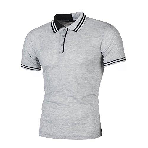 Mannen poloshirts zomer korte mouwen poloshirts basic formal shirts voor mannen