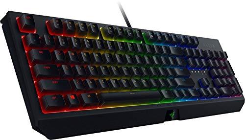 Razer BlackWidow Wired Gaming Mechanical Green Switch Keyboard with Chroma RGB Lighting (Renewed)