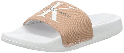 Calvin Klein Jeans Damen Chantal Heavy Canvas flip flop, Pink (Dsk), 36 EU