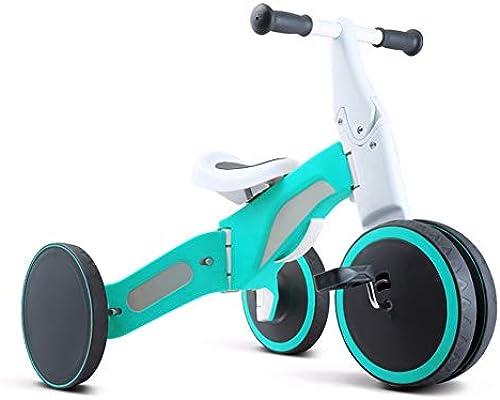 GSDZSY - Kinder fürrad Laufrad 2 IN 1, verformbares Dreirad, Verstellbarer Lenker und Sitz, sicher und zuverl ig, 18 Monate bis 3 Jahre alt, 85-120cm