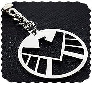 ميدالية مفاتيح نسر كابتن امريكا من الفولاذ المقاوم للصدأ - ميدالية مارفيل