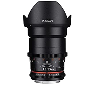 Rokinon Cine DS DS35M-C 35mm T1.5 AS IF UMC Full Frame Cine Wide Angle Lens for Canon EF, Black (B00MZCCDHE) | Amazon price tracker / tracking, Amazon price history charts, Amazon price watches, Amazon price drop alerts