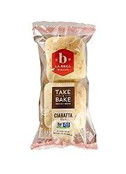 La Brea Bakery Take and Bake Roll, Rustic Ciabatta, 3 oz each (Frozen)