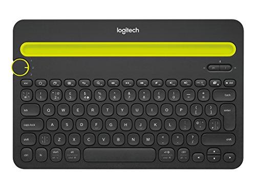 Logitech K480 Kabellose Bluetooth-Tastatur für Computer, Tablet und Smartphone, Multi-Device & Easy-Switch Feature, Kompaktes Design, PC/Mac/Tablet/Smartphone, Englisches QWERTY-Layout - schwarz