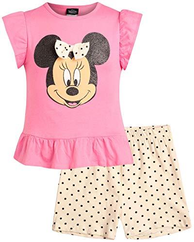 Disney Girls' 2-Piece Knit Short Set with Minnie Mouse, Size 18 Months, Minnie Polka Dot'