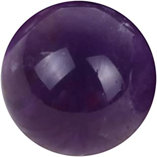 Ouniman 20mm Natural Amethyst Crystal Ball Quartz Beauty Hands Toys, Exercise Hand Muscles Great Gift for Father's Day, Ideal for Friend,Men,Women,Boyfriend,Father,Husband