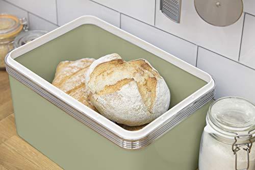 Swan Retro Bread Bin - Green - 18 Litre Storage Capacity