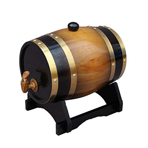 Yimihua Barril de Vino 3L Barril de Roble, Alcohol de Barril de Vino Cubo de Almacenamiento de Whisky, para Almacenamiento Cerveza,espíritulicor, Brandy Grifo (Color : Orange)