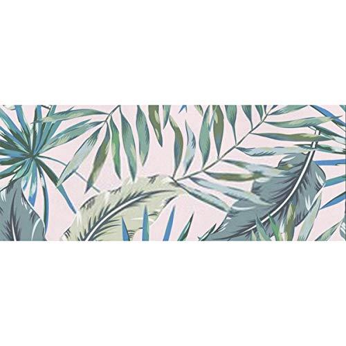 Geschenkpapier Graue Palmblätter auf hellrosa Papier für Geburtstag, Urlaub, Hochzeit Geschenkverpackung 58