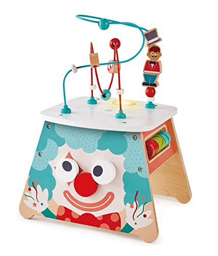 Hape E1813 Light-Up Circus Activity Cube - Multi-Sided Wooden Activity Toy