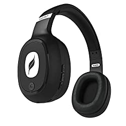Leaf Bass Wireless Bluetooth Headphones with Hi-Fi Mic and 10 Hours Battery Life, Over Ear Headphones with Super Soft Cushions and Deep Bass (Carbon Black),Leaf,Bass,Bluetooth;Wired head phone,Bluetooth;Wired headphones,head phone,head phones Leaf,headphone with mic,headphone with microphone,headphones,headphones Bluetooth;Wired,headphones for mobiles,headset