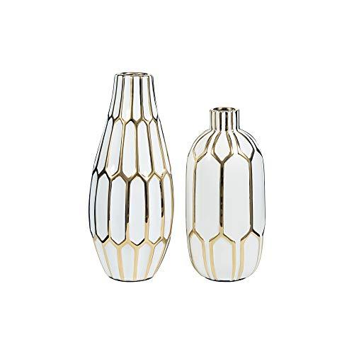 Signature Design by Ashley - Mohsen Vase Set - Gold Finish