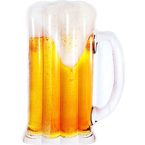 Asolym Aufblasbare Bierglas Pool Float, Fun Entertainment-Einrichtungen am Strand, Swim Party Toys, Tubes Floating Fun Beach Floaties Sommerparty Dekorationen für Erwachsene und Kinder, 182x125x25cm