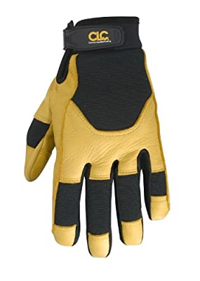 Custom Leathercraft Work Gloves with Top Grain Deerskin and Neoprene Wrist Closure