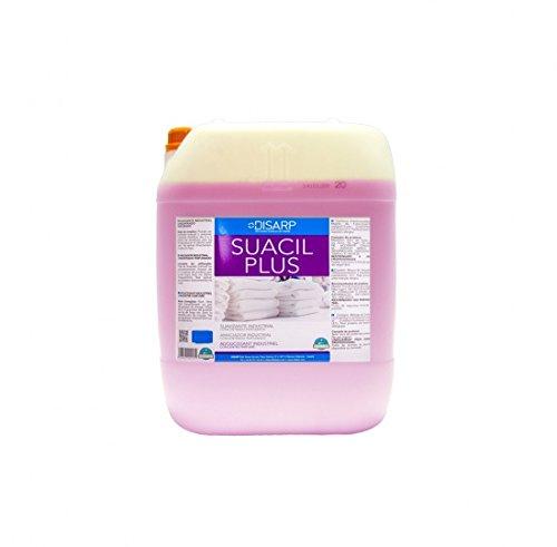 SUAVIZANTE INDUSTRIAL ULTRACONCENTRADO PERFUMADO SUACIL PLUS.Garrafa 20l .Suavizante textil de alta concentración de materia activa suavizante y perfume.