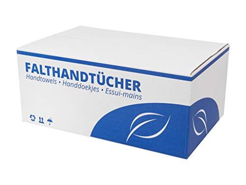 Papierhandtücher, Falthandtücher, 2-lg, hochweiß, 25x23 cm, V-Falz Karton a 3200 Stück, Zellstoff