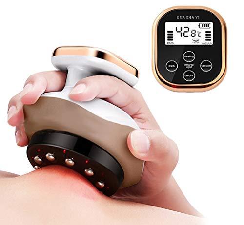 Schröpfmassagegerät Elektrisches Gua Sha Kratzmassagegerät Heiztherapie Saugmassagegerät Schröpfdosen Elektrokratzer Unterdruck Meridianfett