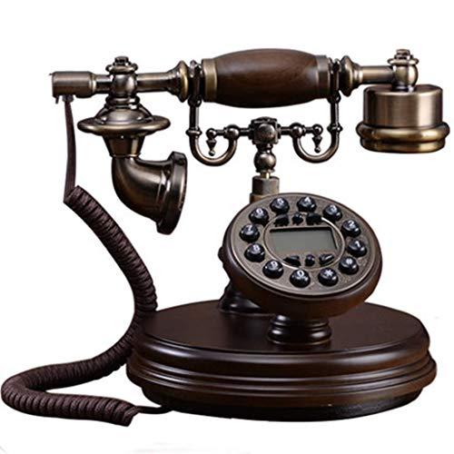ZHOUYANG Teléfono Retro Creativa, Europeo Resina teléfono de dial, Decorativo Cafe Barra de la Ventana de decoración del hogar Decoraciones Puntales
