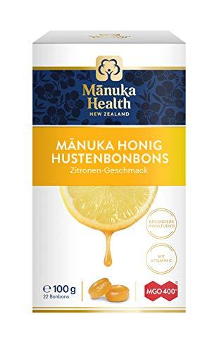 Manuka Health - MGO 400 + Zitronen Lutschbonbons 100 g - 100% Pur aus Neuseeland mit zertifiziertem Methylglyoxal Gehalt und Vitamin C Bonbons