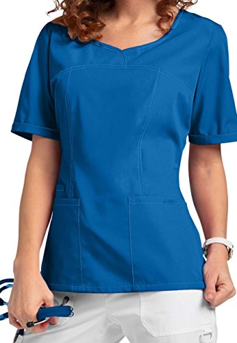 Smart Uniform V-Neck Modern Fit Scrub046 1121 (L, Blau [Blue] 1)