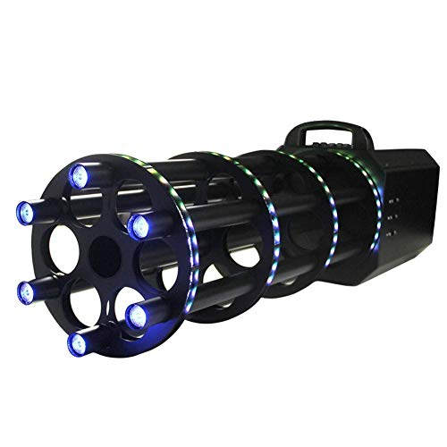 ZTBXQ Bühnenzubehör Effektmaschinen Handheld LED Konfetti 6 Kopf Konfettikanonen Shooter Konfettimaschine Kanone Kryo Jet Maschine mit LED-Leuchten Säule für Bühneneffekt Party Disco DJ