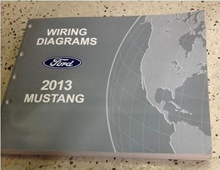 2013 ford mustang electrical wiring diagram service shop repair manual ewd  2013 paperback – 2013