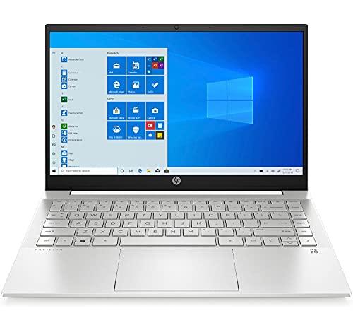 "HP Pavilion 14-dv0012ns - Ordenador Portátil de 14"" FHD (Intel Core i5-1135G7, 16 GB RAM, 512 GB SSD, NVIDIA GeForce MX350-2GB, Windows 10) Plata – Teclado QWERTY Español"