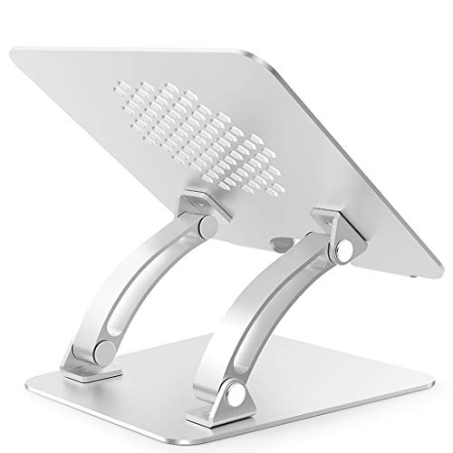 YBYB Laptop Stand Laptop Stand,Multi-Angle Laptop Riser Portable Notebook Stand Foldable Laptop Holder For MacBook Pro/Air And 10-17.3' Notebook Notebook Stand (Color : Silver)