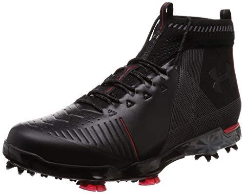 Under Armour Men's Spieth 2 Mid GT Golf Shoe, Black (001)/Spice Red, 9