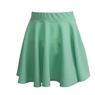 Moxeay Basic Versatile Stretchy Flared Skater Skirt Casual Mini Dress