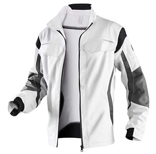 KÜBLER PULSSCHLAG Arbeitsjacke weiß, Größe 52, Unisex-Arbeitsjacke aus Mischgewebe, robuste Arbeitsjacke von KÜBLER Workwear