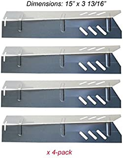 Set of Four Stainless Steel Heat Plates for Uniflame, DynaGlo, Better Home and Garden and Backyard Grill Models